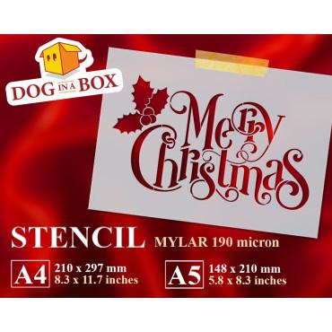Merry Christmas stencil n.3...