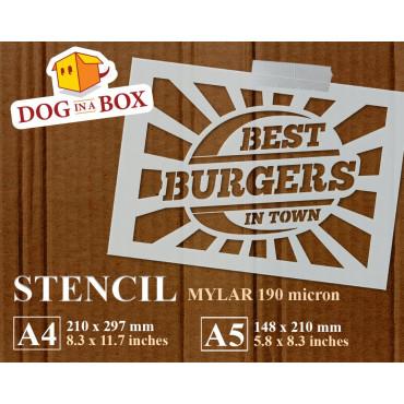 Best Burgers stencil -...