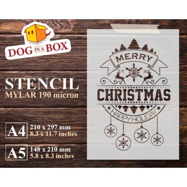 Merry Christmas stencil n.5...