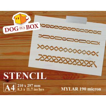 Chain pattern stencil -...