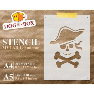 Pirate stencil n.1 - Skull...