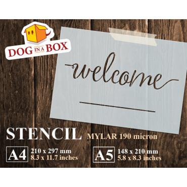 Welcome stencil n.3 -...