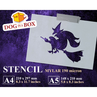 Witch stencil n.3 -...