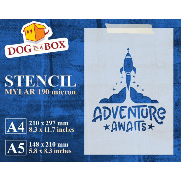 Adventure Awaits stencil -...