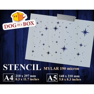 Stars stencil n.3 -...