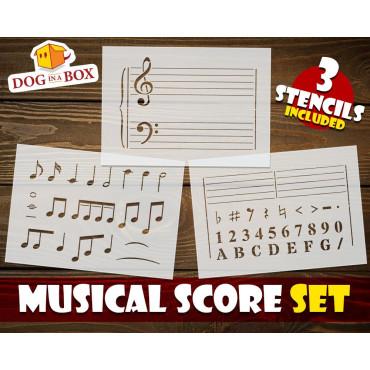 Musical score stencil SET...