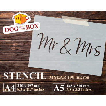 Mr & Mrs stencil - Reusable...