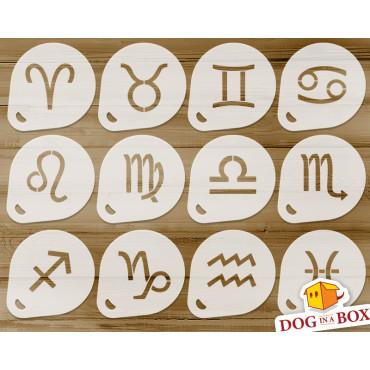 Zodiac Signs stencils n.1...