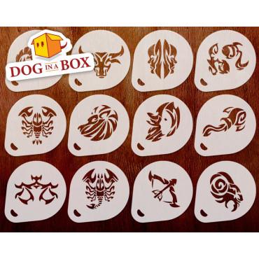 Zodiac Signs stencils n.3...