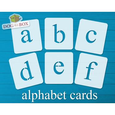 Alphabet stencils font n.12...
