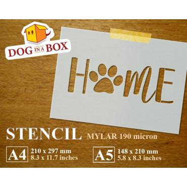 Home pawprint stencil - Dog...