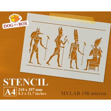 Hieroglyphs stencil n.2 -...