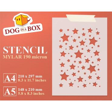 Stars stencil n.2 -...