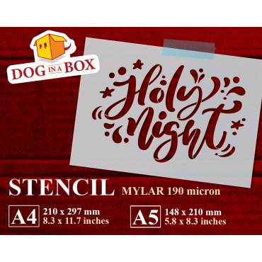 Holy Night stencil n.1 -...