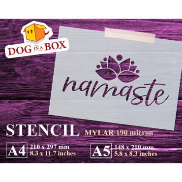 Namaste stencil n.1 - Yoga...