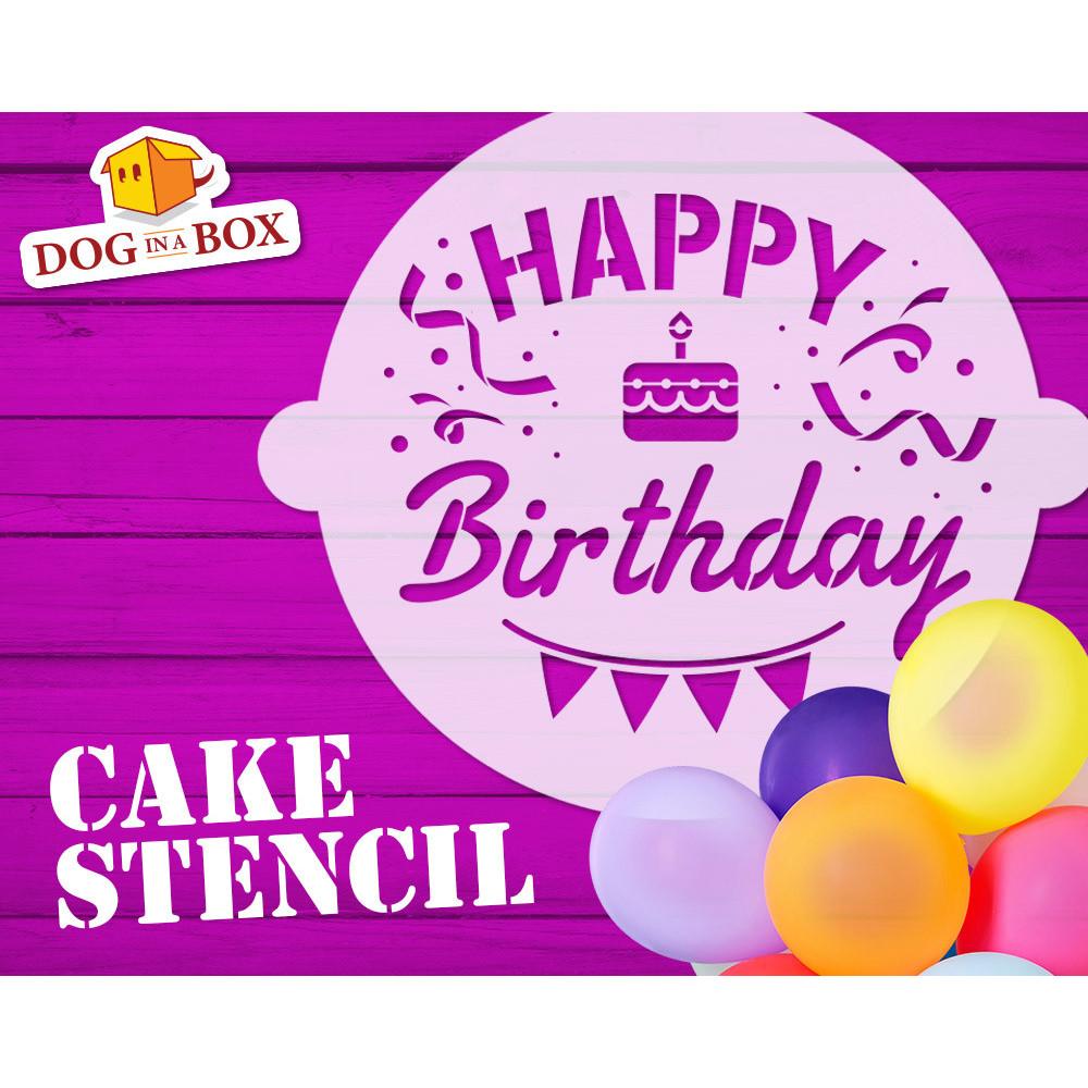 Pleasing Happy Birthday Cake Stencil Funny N 3 Party Cake Decor Stencil Personalised Birthday Cards Vishlily Jamesorg