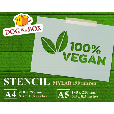 100% Vegan stencil -...