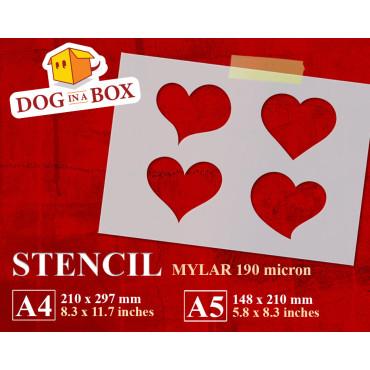 Hearts stencil n.2 -...