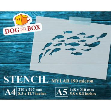Fish stencil n.8 - Reusable...
