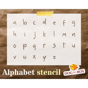 Alphabet stencil n.3 -...