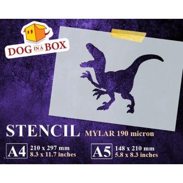Dinosaur stencil n.6 -...