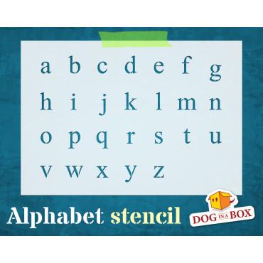 Alphabet stencil n.12 -...