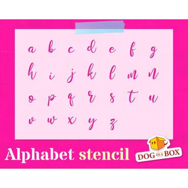 Alphabet stencil n.13 -...