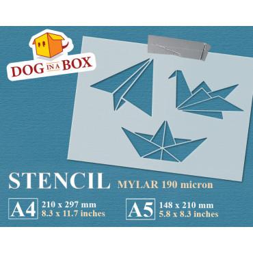 Paper toys stencil -...