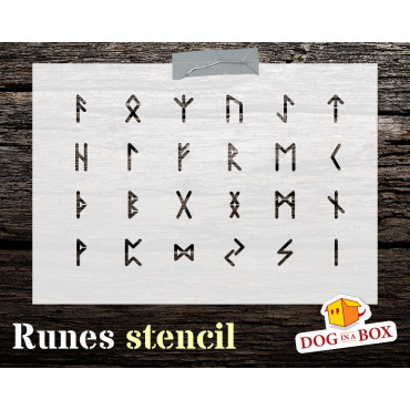 Runes stencil n.1 - Celtic...