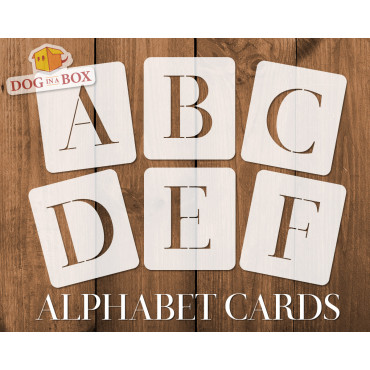 Alphabet stencils font n.14...