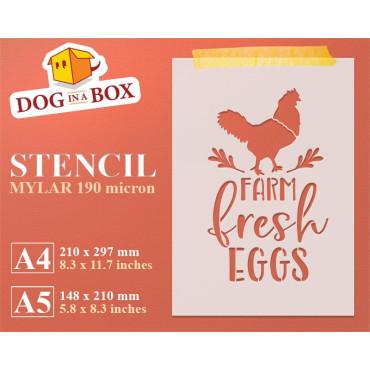 Farm Fresh Eggs stencil -...