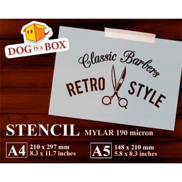 Barber Shop stencil n.2 -...