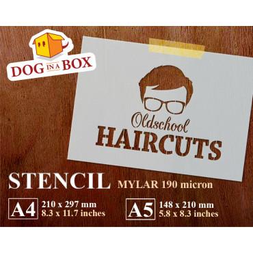 Barber Shop stencil n.3 -...
