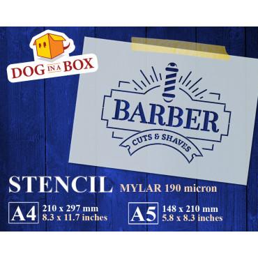 Barber Shop stencil n.4 -...