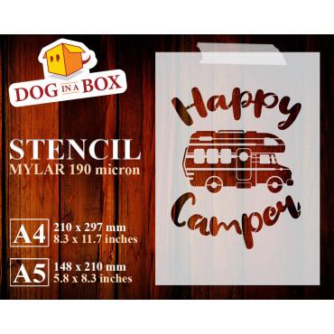 Happy camper stencil n.4 -...