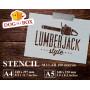 Lumberjack stencil n.1 -...