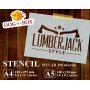 Lumberjack stencil n.2 -...