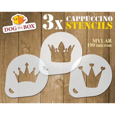 Crown Stencils (set of 3)...