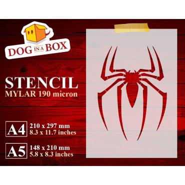 Spider symbol stencil n.1 -...