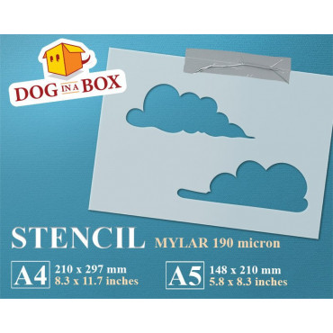 Clouds stencil - Reusable...