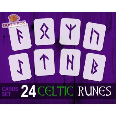 Cartes pochoirs Runes...