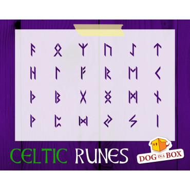 Runes stencil n.2 - Celtic...