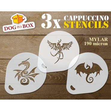 Dragon stencils (set of 3)...