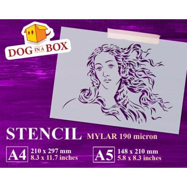 Botticelli's Venus stencil...