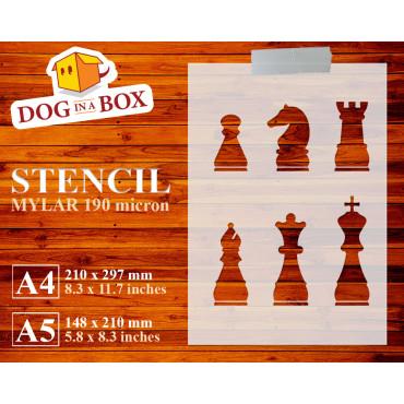 Chess pieces stencil n.1 -...