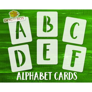 Alphabet stencils font n.15...