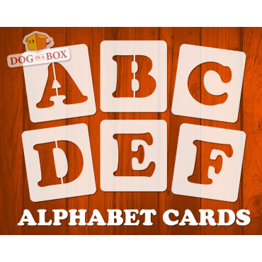 Alphabet stencils font n.16...