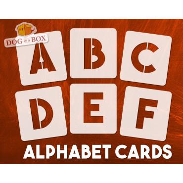Alphabet stencils font n.17...