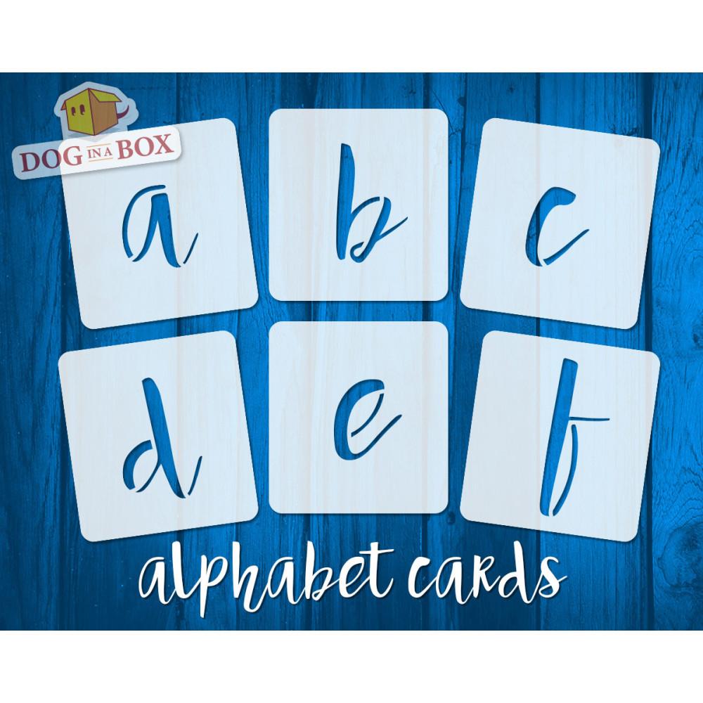 Alphabet Stencils Washable Small Lower Case 26 Individual Stencils
