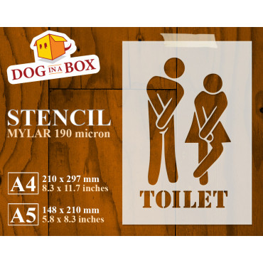 Toilet stencil n.1 - Funny...